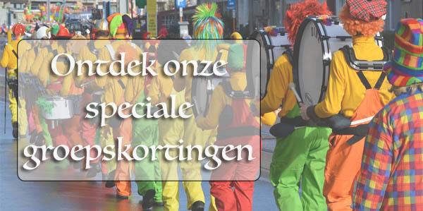 Groepskortingen carnaval Hoofs
