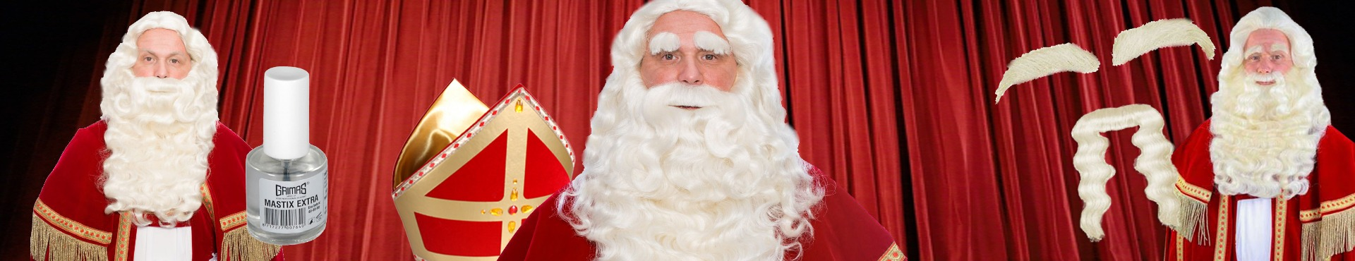 Sinterklaas baard en pruik